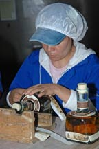 1921 tequila is bottled and labeled by hand at agabe tequilana