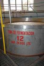 stainless steel fermentation tank at destiladora de los altos