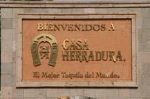 Casa Herradura entrance sign in Amatitan, Jalisco