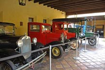 Antique trucks on display at Mundo Cuervo, Tequila