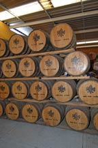 oak barrels for aging tequila - partida distillery
