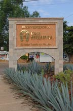 casa herradura - entrance in amatitan, jalisco