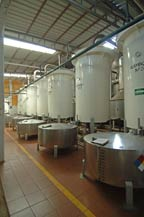 Stainless steel stills (alambiques) at Tequila Centinela, Arandas, Jalsico
