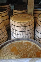 mosto (must) is fermented in wooden tanks at fabrica la alteña of tequila tapatio in arandas, jalisco