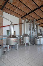 stainless steel alambiques at tres mujeres tequila distillery - 2010
